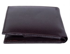 Pe Mens New Style Money Purse Brown Pu Leather Wallet