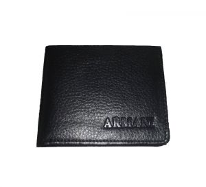Pe Mens Fashionable Black Pu Leather Wallet