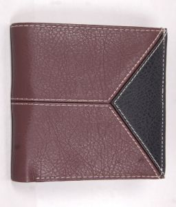 Pe Mens Designer Pu Leather New Brown Money Wallet