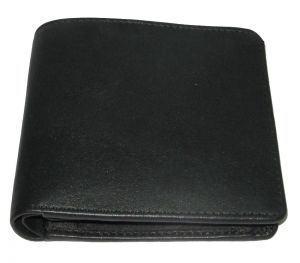 Pe Mens Black Leather Wallet - (product Code - Mw301_bl)