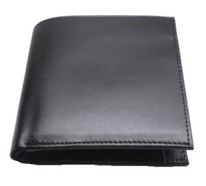 Pe Mens Pure Black Leather Wallet