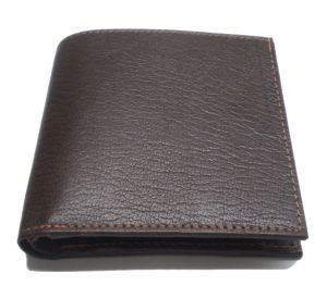 Pe Mens Pure Brown Pondy Leather Wallet