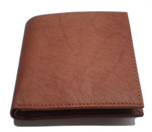 Pe Mens Pure Tan Leather Wallet