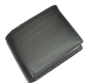 Pe Mens Genuin Black Leather Wallet