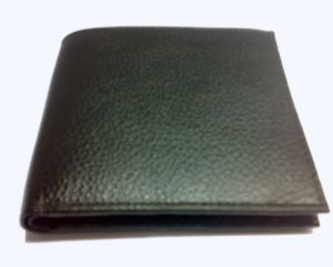 Pe Mens New Black Leather Wallet
