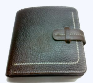 Pe Mens Genuine Brown Leather Wallet