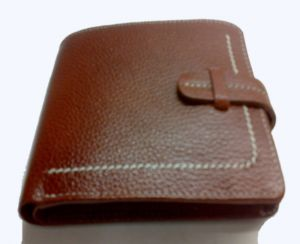 Pe Mens Genuine Tan Leather Wallet