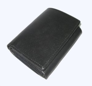 Pe Mens New Genuine Black Leather Wallet