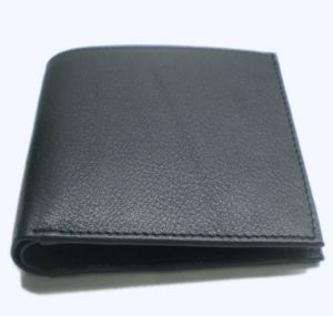 Pe Mens Antique Black Leather Wallet