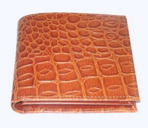 Pe Mens New Style Crocodile Brown Leather Wallet