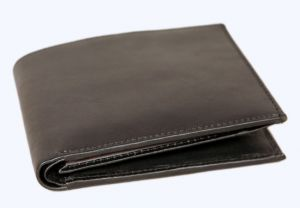 Pe Mens New Style Money Purse Black Leather Wallet