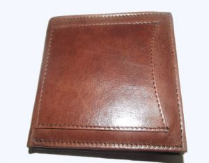 Pe Mens New Style Natural Pure Money Purse Brown Leather Wallet