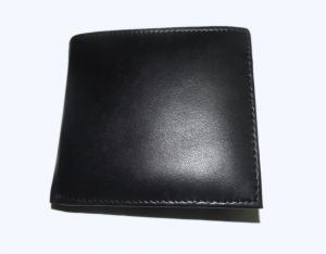 Pe Mens New Style Pure Sheep Black Leather Wallet