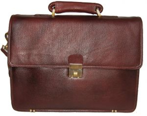 Office Bags - PE 17 inch 100% Genuine Leather Laptop Messenger Bag