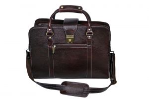 Laptop Bags - PE 16 inch 100% Genuine Leather Laptop Messenger Bag