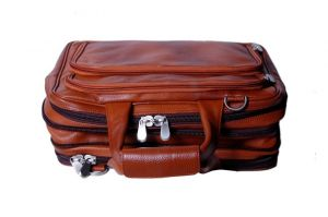Pooja Exports Genuine Leather Laptop Bag