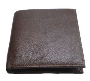 Pe Mens Pure Brown Pdm Leather Wallet