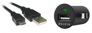 Belkin Car Adapter With Free Micro USB Cable For Mobile Phones / Smartphones / Tablets / Phablets & All Other Various Micro USB Pin Cellphones
