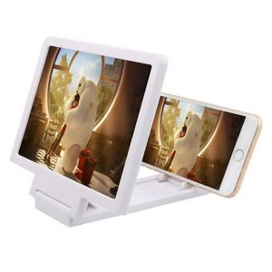 Snaptic 3d Folding Mobile Phone HD Screen Magnifier Holder (white)