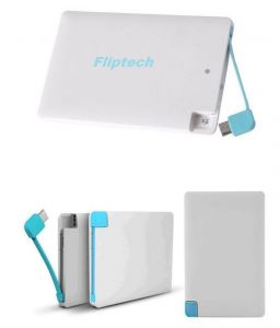 Fliptech Original 2500mah Credit Card Slim Powerbank (with Manufacturer Warranty)