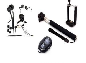 Combo Offer Of Selfie Stick With Bluetooth & Sony Mh750 Earphone