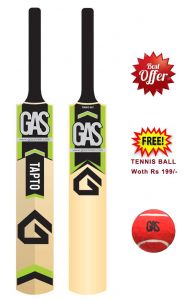 Cricket - Gas Tennis Cricket Bat Full Size with Free Tennis Ball