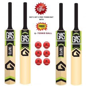 Cricket Bats - TAPTO - GAS TENNIS BAT BEST OFFER BUY 1 GET 1 FREE WITH 6 TENNIS BALL
