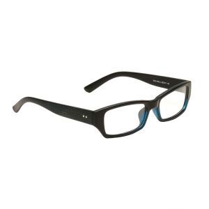 Blue-tuff Mens Rectangular Sunglass Eyewear Girls Eye Frame-3145-c3-blueblk