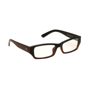 Blue-tuff Mens Rectangular Sunglass Eyewear Eye Frame-3145-c5-brownblack