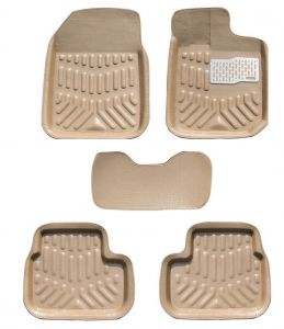 MP Premium Quality Car 4d Croc Textured Floor Mat Beige Maruti Alto K10