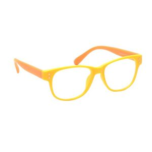 Blue-tuff Rectangular Sunglass Eyewear Girls Frame-5176-c9-orange