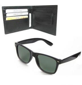 Sunglasses (Unisex) - Men''s Executive Wallet With Wayfarer Sunglass