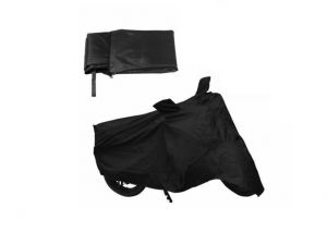 Mp-bajaj Platina 100 Bike Motorcycle Body Cover With Mirror Pocket Black