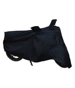 MP Universal Bike Body Cover Black Colour With Mirror Pockets For Bajaj