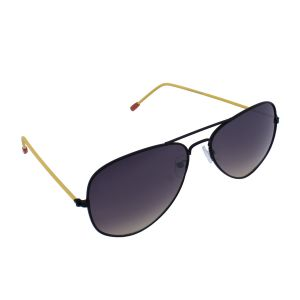Blue-tuff Aviator Sunglasses Black/yellow Frame With Black Mirror
