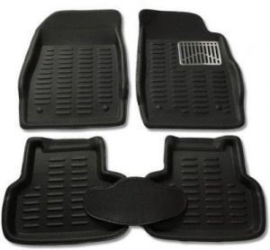 Mp-black Colour-3d Car Floor Mats Perfect Fit For Tata Vista