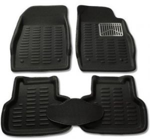 P-black Colour-3d Car Floor Mats Perfect Fit For Skoda Rapid