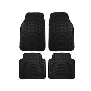 MP Car Floor Mats (black) Set Of 4 For Tata Indica V2