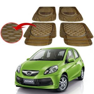 MP Premium Smoke Car Floor/foot Mats Set Of 4 - Honda Brio