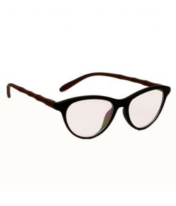Blue-tuff Girls Antiglare Cateye Frame Full - Black-brown