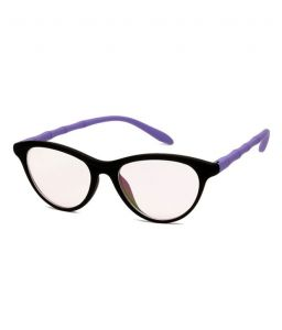 Blue-tuff Girls Antiglare Cateye Frame Full-black-purple
