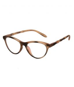 Blue-tuff Girls Antiglare Cateye Frame Printed-brown