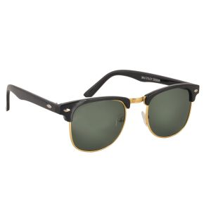 Clubmaster Sunglasses Googles Black & Golden With Uv400 Lens For Men