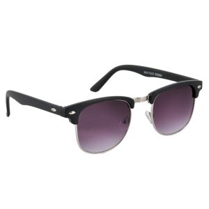 Clubmaster Sunglasses Googles Black & Silver With Uv400 Lens For Women