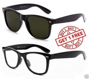 Blue-tuff Amazing Sunglass Combo Wayfarer Black & Clear