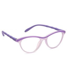 Blue-tuff Unisex Antiglare Cateye Frame Full Purple