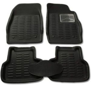 Mp-black Colour-3d Car Floor Mats Perfect Fit For Volkswagen Polo
