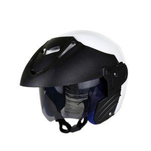 Bike Helmets - MP Glorious White Ninja Open Face Motorcycle Scooter Helmet for Gents/Boys