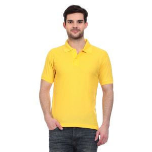 Blue-tuff Polo Neck Polycotton Multi Trending Yellow Plain T-shirt