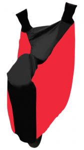 MP Sporty Bike Body Cover Black & Red - Bajaj V 150